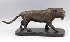 8338030 Massive Bronze Skulptur Schreitender Tiger