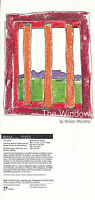 THE WINDOW A PLAY BY NELSON MANDELA ADVERTISING UNUSED COLOUR POSTCARD