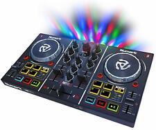 Numark Black mirror ball with 2 deck DJ controller Add Virtual DJ LE Software