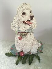 Claywood Creations- Doggie Doorstop -White Poodle
