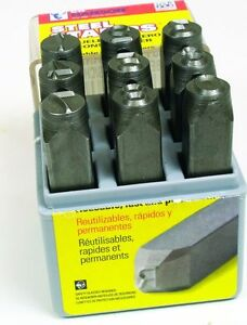 """NEW CH HANSON 20541 USA MADE QUALITY 1/8"""" STEEL NUMBER STAMP MARKING SET 5499397"""