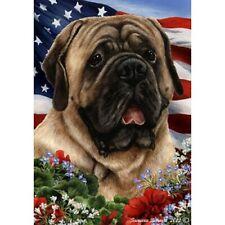 Patriotic (1) House Flag - Fawn Mastiff 16113