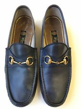 GUCCI 1953 Roos Horsebit Blue Leather Classic Loafers Size UK 8 (US 8.5) $730