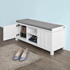 SoBuy® Home Office Storage Unit, Hallway Shoe Storage Bench, White,FSR35-W,UK