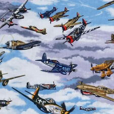 Nutex WARBIRDS WW11 vintage fighter aircraft Plane Aeroplane Bomber Fabric