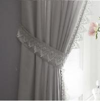 Pair (x2) Of Tie Backs - Tiebacks Holdbacks Curtains & Voiles Sabina Silver/Grey