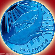 2013 Blue Whale - TITANIUM Coin in BOX with COA South Georgia & Sandwich Islands