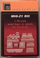 SBS Model 1:72 Mig 21 BIS Wheel Bays & Wheels for Zvezda Kit 72008