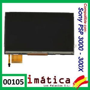 PANTALLA LCD PARA SONY PSP 3000 3004 FAT DISPLAY IMAGEN DISPLAY 3003 3002 3001