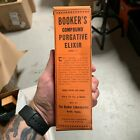Antique BOOKER'S COMPOUND PURGATIVE ELIXIR Medicine Box Norfolk, VA