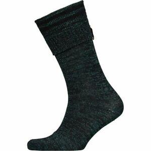 Hunter Womens Striped Aurora Borealis Knitted Socks - Hyper Green - Size UK 13-2