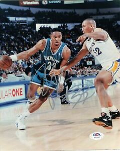 Alonzo Mourning signed 8x10 photo PSA/DNA Charlotte Hornets Autographed