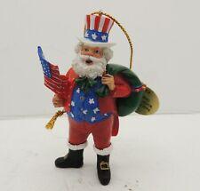 Danbury Mint Usa Santa Around the World Christmas Ornament