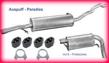 Abgasanlage Auspuff VW Sharan I 2.0, 2.8 VR6 & 2.8 VR6 Synchro 7M8, 7M9, 7M6+Kit