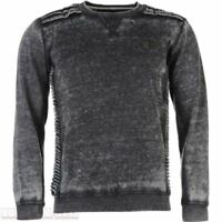 Soul Star Otopia Jumper Grey Black Sweatshirt Top Pullover Mens UK Size M *REF61