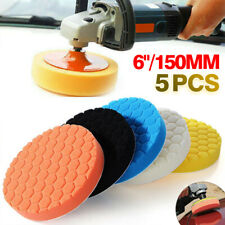 5Pcs 6 Inch Buffing Sponge Polishing Pads Drill Kit Waxing Car Auto Polisher