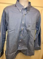 IZOD 80's 2-Ply Pinpoint Men's Long Sleeve Dress Shirt 100% Cotton Sz L *NWT*