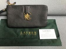 Polo Ralph Lauren Wristlet Bag Wallet Leather Unisex New