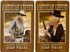 swap card single playing cards john Wayne movie hollywood horse westerns