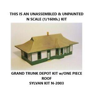 GRAND TRUNK DEPOT KIT - N SCALE - SYLVAN SCALE MODELS - N-2003