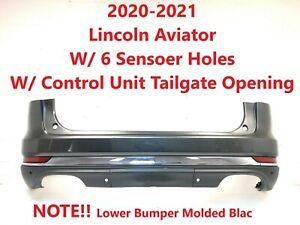 2020-2021 lincoln aviator rear bumper with 6 sensor holes (magnetic - gray) #1