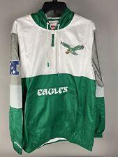 Mitchell & Ness Mens Philadelphia Eagles Hooded Windbreaker Size Large