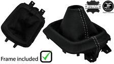 GREY STITCH LEATHER MANUAL GEAR GAITER +PLASTIC FRAME FOR MAZDA CX5 CX-5 12-16