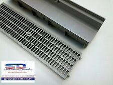 CANALETTA CANALE SCOLO COMPONIBILE C/GRIGLIA ANTITACCO PVC MODULARE CM 13X7,5X50