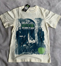 The Beatles Boy's Let It Be You Know My Name Short Sleeve T-shirt, Off-white
