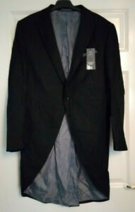 BNWT Marks and Spencer M&S Black Morning Suit Tailcoat Wedding RRP £55