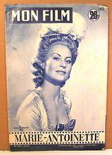"""revue cinéma mon film n° 544 """"Marie-Antoinette"""" avec M. Morgan 1957"""