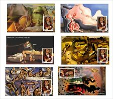 2010 SALVADOR DALI PAINTINGS ART 12 SOUVENIR SHEETS MNH UNPERFORATED