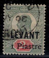 P130413/ BRITISH LEVANT / SG # 15 USED CERTIFICATE PF CV 850 $
