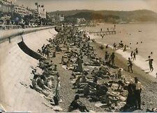 NICE c. 1955 - Plage de la Baie des Anges Promenade Palaces Côte d'Azur- PR 1131