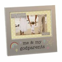 "Me & My Godparents 6"" x 4"" Photo Frame Aluminium Frame By Juliana Impressions"