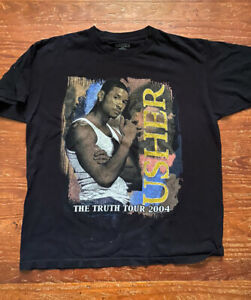 Vintage Usher Kanye West Official Tour Merch T Shirt - The Truth Tour - 2004