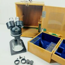 Japan Lumiscope 3 Objectives No 616076 Binocular Microscope School Lab