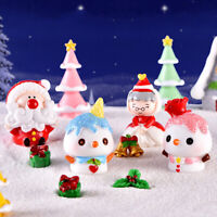 Santa Claus Snowman Tree DIY Mini Miniature Figurine Christmas Micro Landsc zq