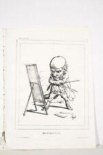 Journal Le Charivari 23/10/1833 Caricature PIGAL Mathématicien au tableau