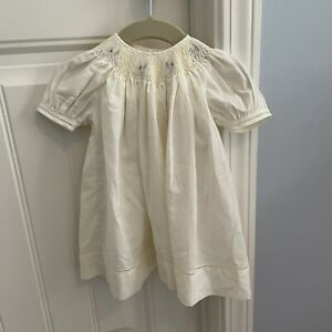 PETIT AMI Baby Girl 3 Month Dress Yellow Bishop Smocked Hand Embroidered