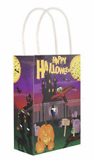 6 Halloween Bags With Handles - Gift Toy Loot/Party Bag Kids Trick Or Treat