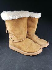 Rampage Girls Nancy Faux Fur Boots Size 1M