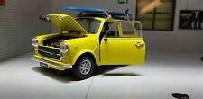 Austin Rover Mini Classic Cooper Mr Bean Holiday Surf 1:24 Scale Diecast Model