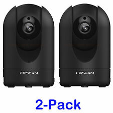 2-Pack Foscam 1080P 2.0MP R2 PTZ Wireless Wired Security Surveillance IP Cameras