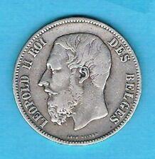 B4356 - MONNAIE BELGIQUE - Une Pièce de 5 Francs Argent de 1869
