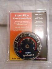 Stove Pipe Thermometer flue systems Nonfumo  to 500c 900f BNIP magnetic & screw