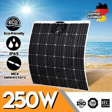 12V 250W Flexible Solar Panel 250 Watt Mono Caravan Camping Home Battery Charge