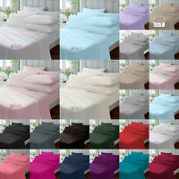 """EXTRA DEEP FITTED 16""""/40CM, FITTED 9""""/23CM PERCALE FLAT SHEETS ALL SIZES"""