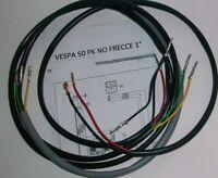 IMPIANTO ELETTRICO ELECTRICAL WIRING VESPA PK 50 1°SERIE SENZA FRECCE + SCHEMA