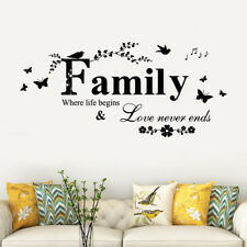 Family Removable Art Vinyl Mural Home Room Decor Wall Stickers